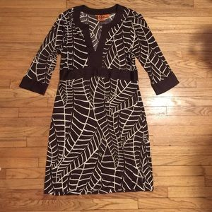 Tory Burch brown patterned dress - sz 14